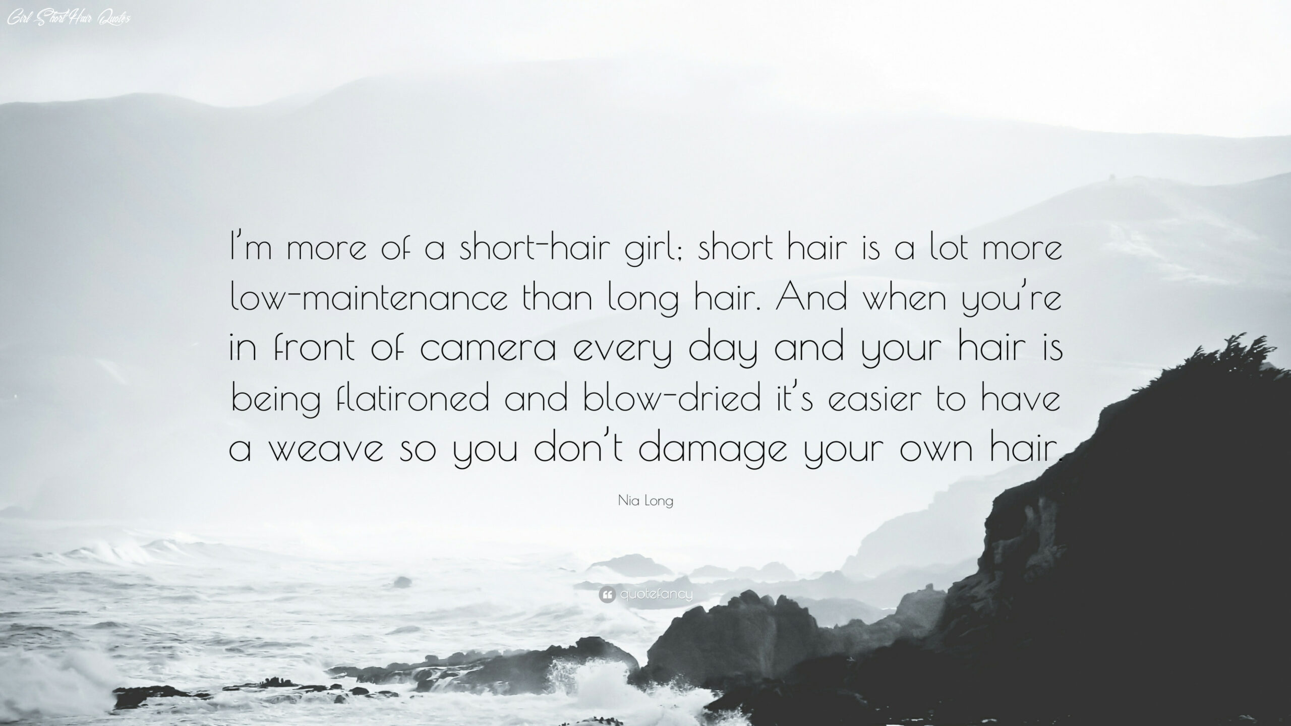"""Nia Long Quote: """"I'm more of a short-hair girl; short hair is a ..."""