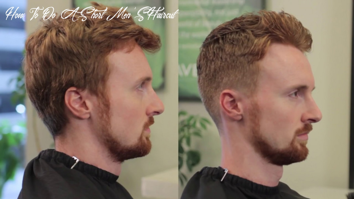 Short Men's haircut with Clipper over comb