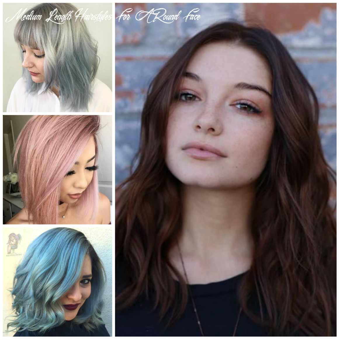 Striking Medium-Length Hairstyles for Round Faces   12 Haircuts ...