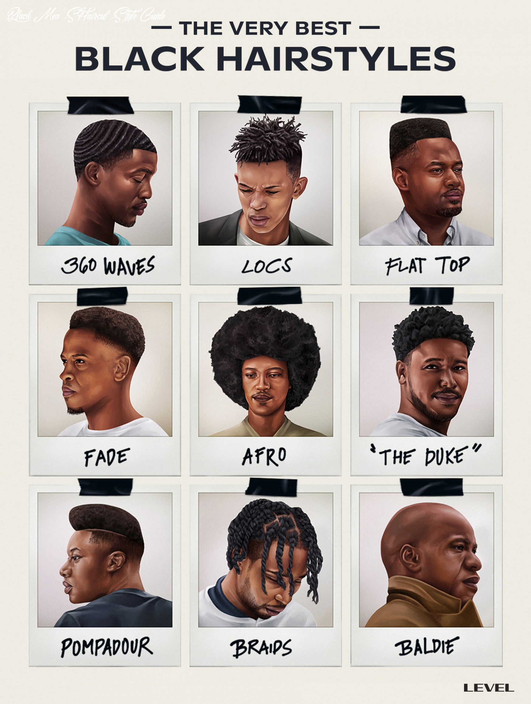The Top Black Men's Hair Styles, Ranked | LEVEL