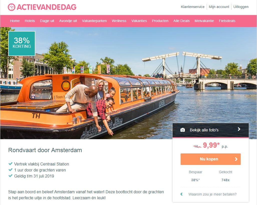 阿姆斯特丹運河遊船特惠票僅10歐 (原價16歐)! (含教學)