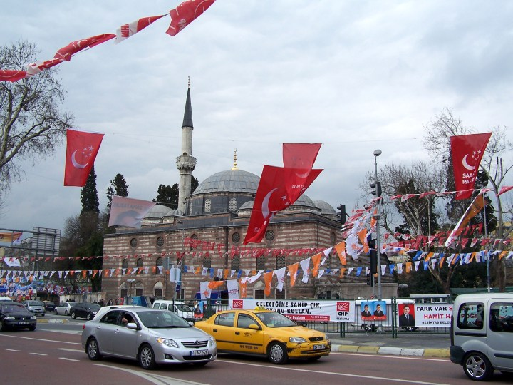 Political parties' flags in Istanbul before the 2009 elections. Source: Wikimedia