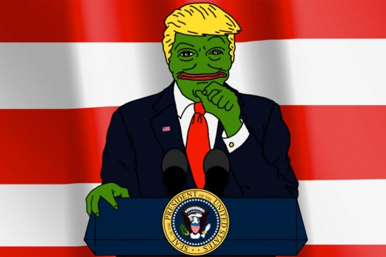 Pepe the Frog portrayed as Donald Trump.