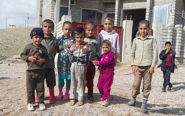 Yazidi refugee kids in Kurd territory. Source: Defend International via Flickr