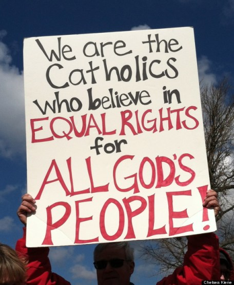 Gay rights are one of the more recent issues in which religion and politics have clashed. Source: Chelsea Keine