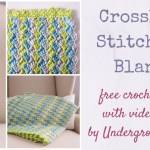 Crochet Pattern Crosshatch Stitch Baby Blanket With Video Underground Crafter