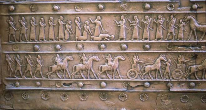 Imágen de las puertas del palacio de Salmanassar III en ingur enlil, la actual balawat