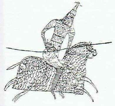 Un grafito de Dura Europos que muestra a un clibanario. Siglo III después de Cristo.