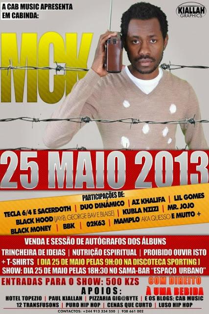CabMusic apresenta: Mc K em Cabinda para Show e Venda dos 3 Albums