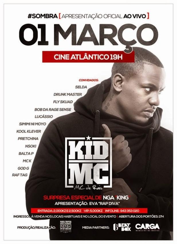 Evento: Grande Show de Kid Mc | Dia 01 de Março de 2014