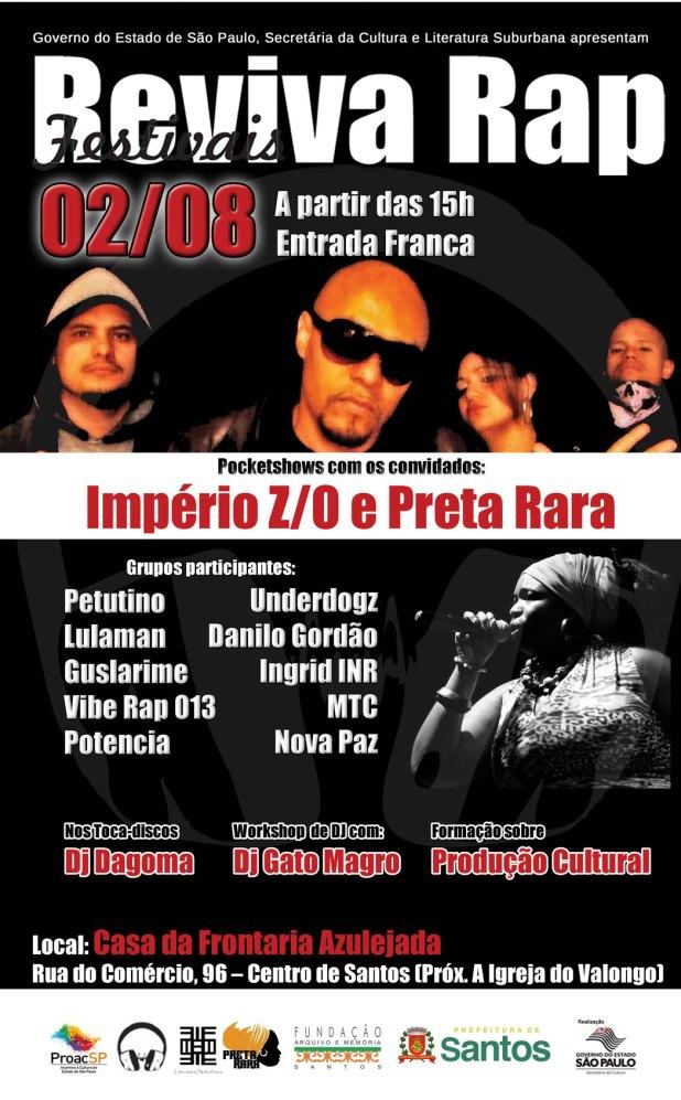 Flyer Reviva Rap Santos