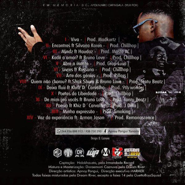 Poetas Da Liberdade - Track List