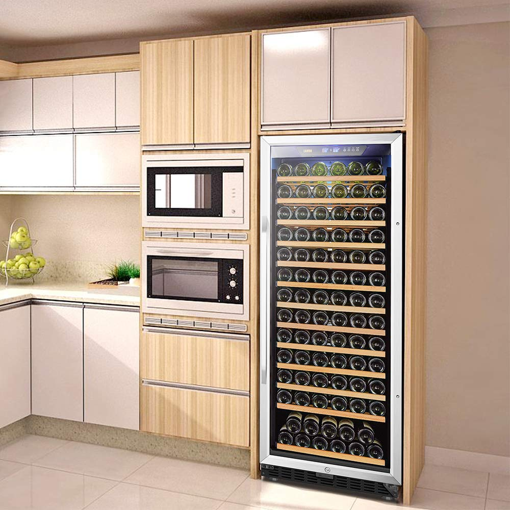 LANBO Wine Chiller, 149 Bottle Single Zone Red Wine Cellar Fridge Built-in or Freestanding with Smart Touch Panel