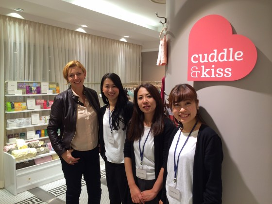 Julia Gash in Japan lingerie shop
