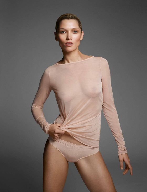 Tulle pullover top and string panty (Sensitivity)