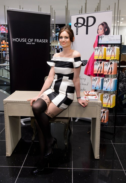 Sophie Ellis-Bextor unveils her debut fashion range of tights for Pretty Polly at House of Fraser