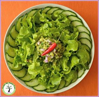 Salade verte et guacamole