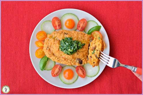 Bowlcake salé aux olives et pesto de tomates séchées et amandes. Une façon originale d'utiliser votre pesto.