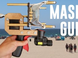 This YouTuber's 'mask gun' is a perfectly American fix for anti-maskers