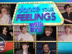 BTS danced their feelings out in an adorably dorky game