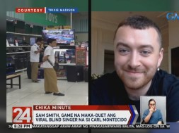 Sam Smith 'hundred million percent' sure to sing duet with blind viral singer Carl Malone Montecido