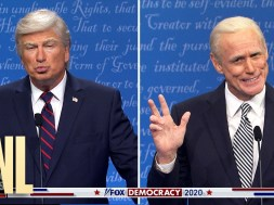 The Trump-Biden debate on 'Saturday Night Live' is more grating than the real one.