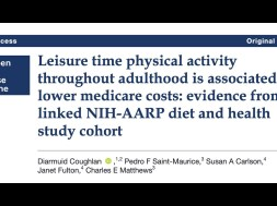 Staying Active Throughout Adulthood Is Linked to Lower Healthcare Costs in Later Life – New Research