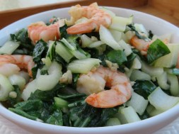 Bok Choy with Shrimp