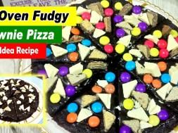 No-Oven Brownie Pizza Recipe