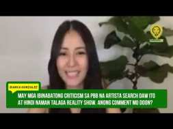 Bianca Gonzalez reacts to Toni Gonzaga's interview with a former dictator's son, defeated VP candidate Bongbong Marcos
