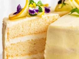 Lemon Cake with Fluffy, Less-Sweet Lemon Frosting