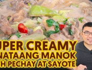 Super Creamy Ginataang Manok with Pechay at Sayote