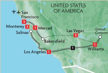 Ultimate USA West Coast 10-Day Trip