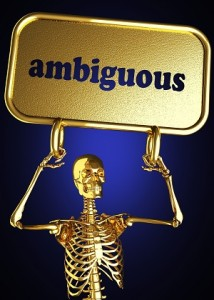 Ambiguous Meaning