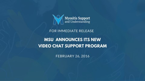 MSU Announces Launch of its new Video Chat Support Program for #myositis