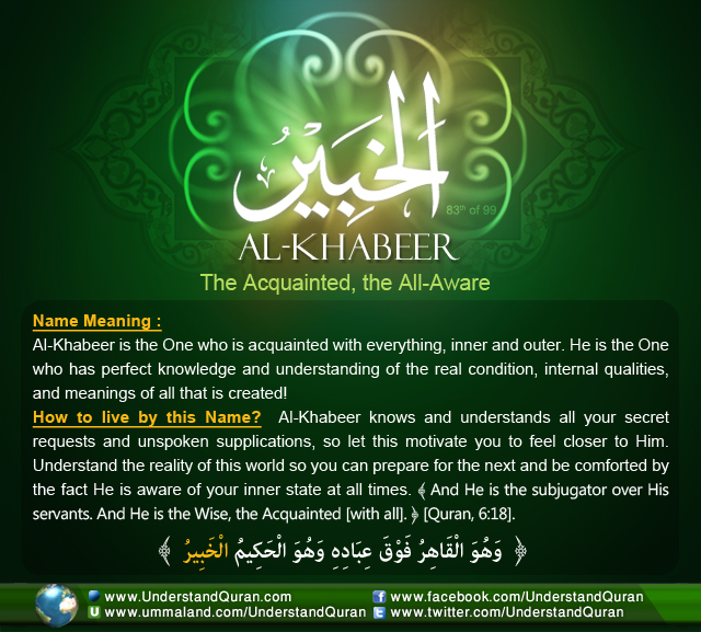 And the Answer is       AL-KHABEER | Understand Al-Qur'an