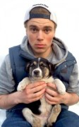 Gus Kenworthy and an adopted puppy