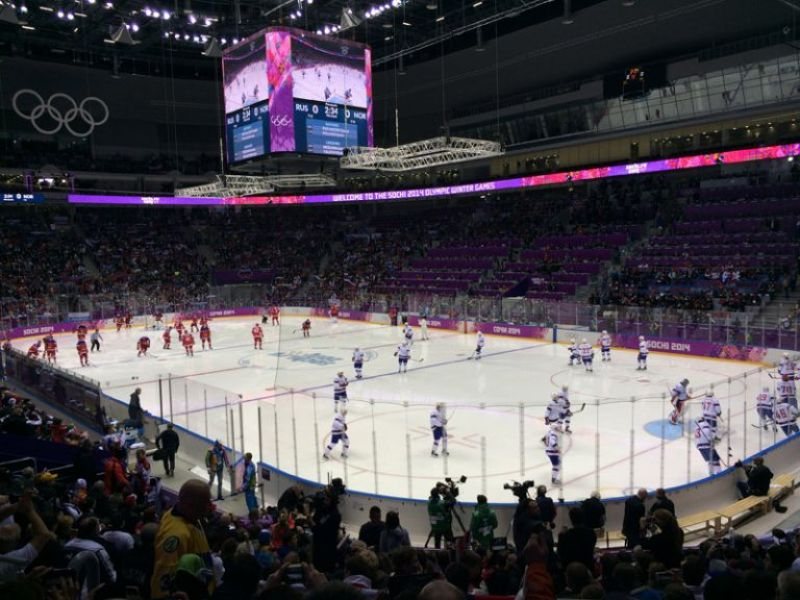 Russia-Norway - Hockey Game in Sochi Olympics 2014