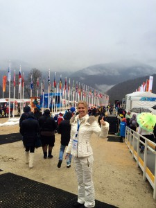Russian fan at the mountain cluster - Sochi Olympics 2014