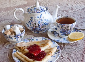 Russian Maslenitsa tea time