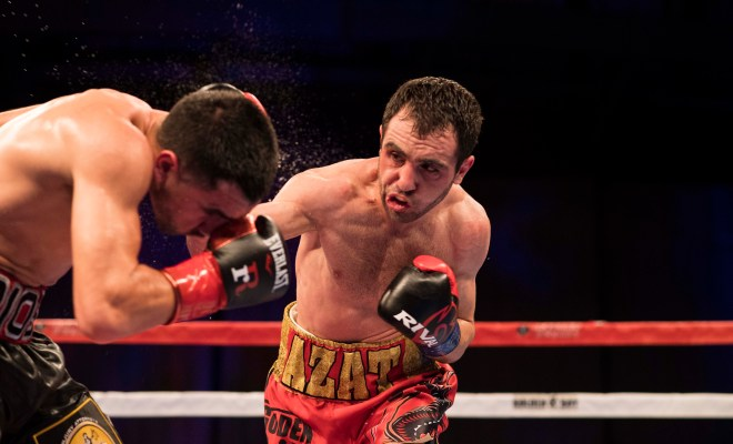 Hovhannisyan Lands a Right Hand