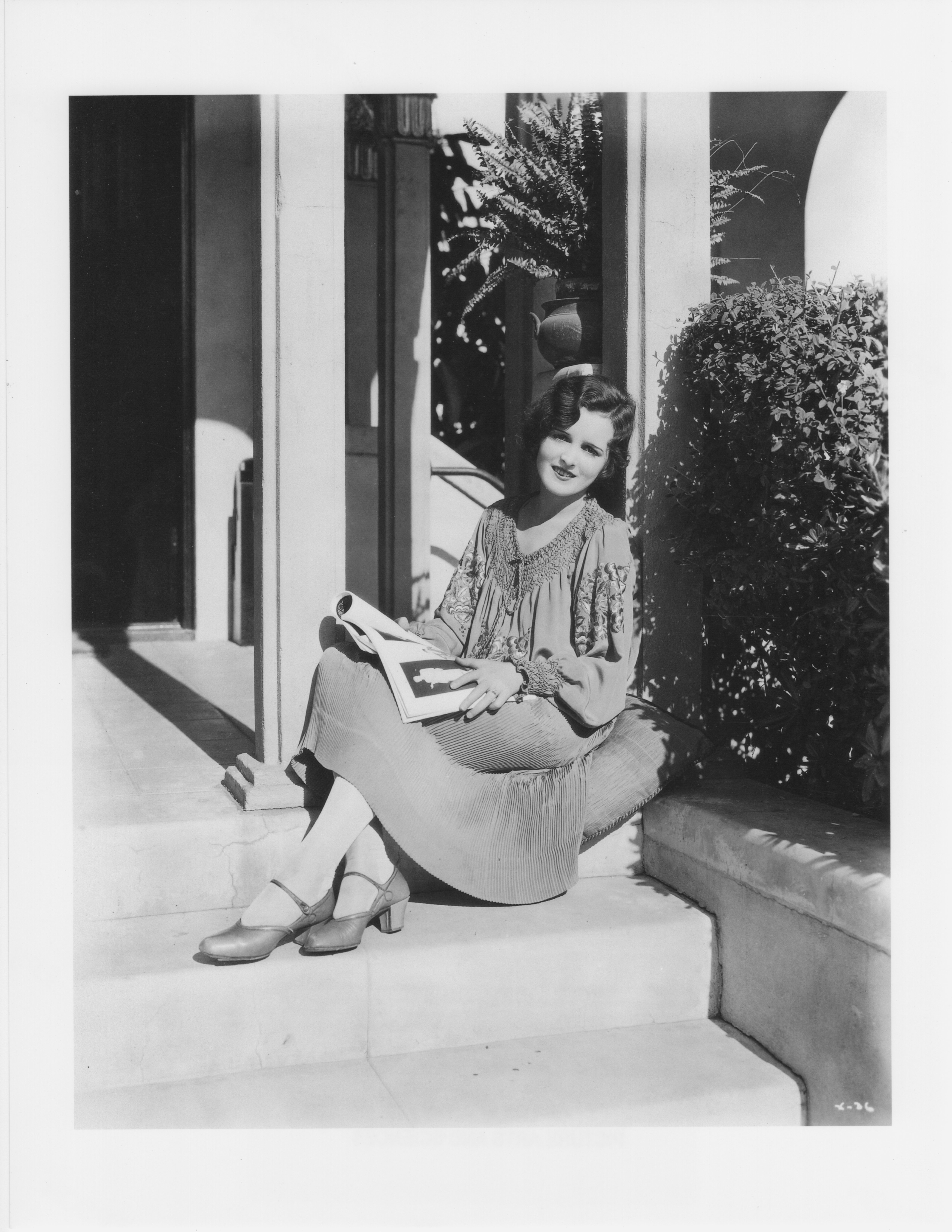 Mary Astor outside her family's home, Moorcrest. Courtesy of the Academy of Motion Picture Arts and Sciences