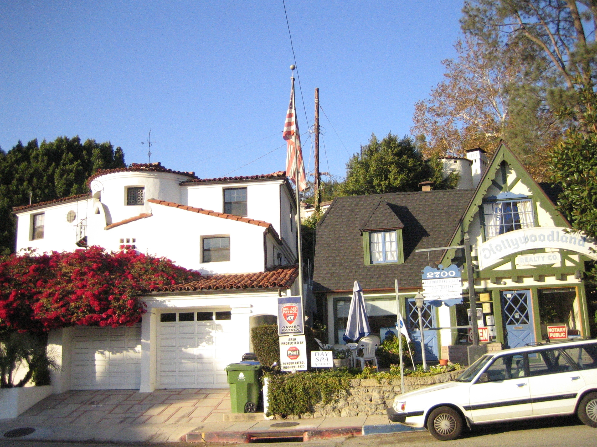 L-R: The Busby Berkeley House and Hollywoodland Realty Today/Hope Anderson Productions