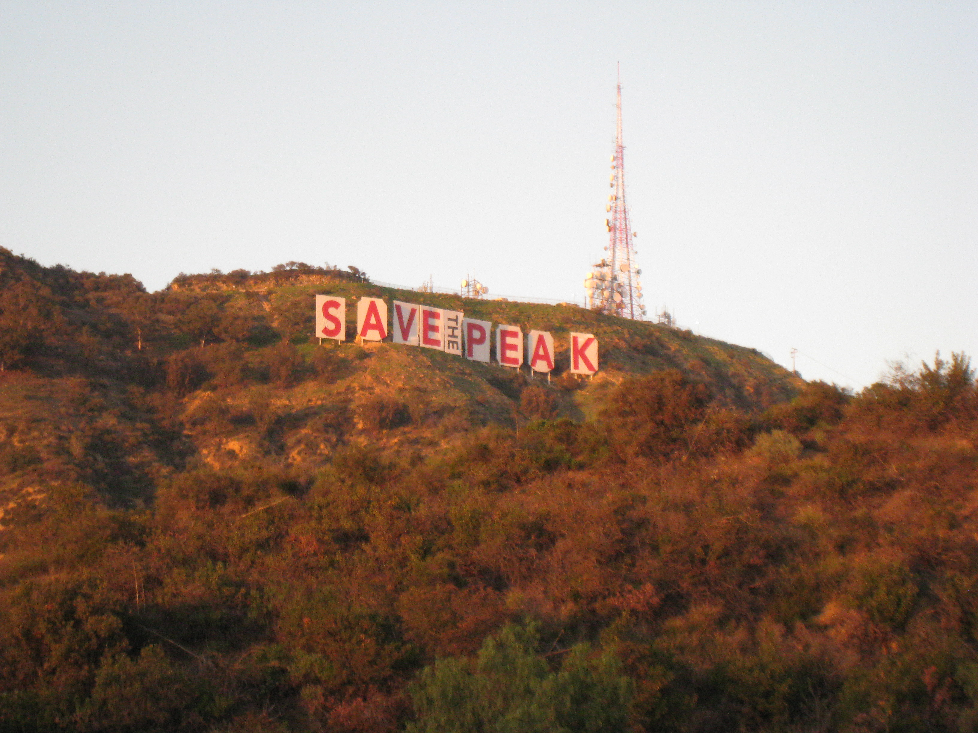 Save the Peak  Under the Hollywood Sign
