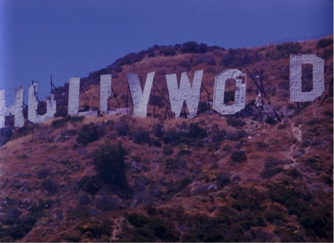 1978 Rebuilding of the Hollywood Sign  Under the