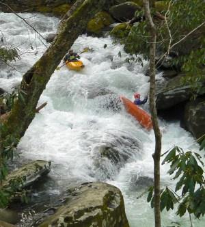 kayaking thunderhead prong in tremont smokies - 2