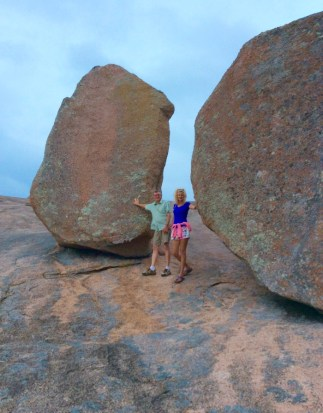 wes and rachelle siegrist atop enchanted rock
