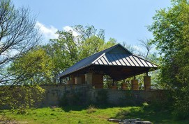Rest and Picnic area at the Arbor Hills Nature Preserve