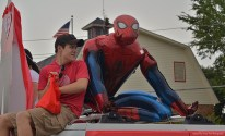 """Did I mention, this year's theme of the parade is """"Superhero""""?"""