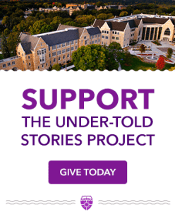Donate button - Help support the Under-Told Stories Project.